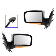 03-06 Expedition Power Heated w/Puddle Light (w/ Amber Turn Signal) Textured Black Mirror PAIR