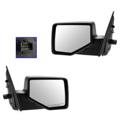06-10 Ford Explorer; 07-10 Explorer Sport Trac Power w/Puddle Light Textured Black Mirror PAIR