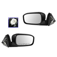 03-07 Honda Accord Coupe Power Heated Gloss Black Mirror PAIR