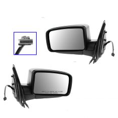 05-06 Expedition Power w/Puddle Light Textured Black Mirror PAIR