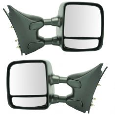 05-15 Nissan, Suzuki PU, SUV Manual Dual Swing Telescoping Textured Tow Mirror Upgrade PAIR (TR)