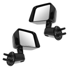 07-10 Jeep Wrangler Manual w/Gloss Black Cap Mirror PAIR