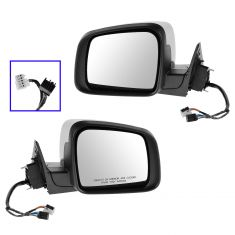 11-13 Jeep Grand Cherokee Pwr, Htd, Turn Signal, Mem, (w/o Blind Spot Det) w/Chrome Cap Mirror PAIR