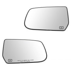 10-11 Chevy Equinox, GMC Terrain Power Heated Mirror Glass w/Backing Plate PAIR