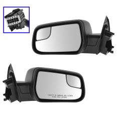 12-14 Chevy Equinox Textured Black Power Mirror w/Convex Insert PAIR