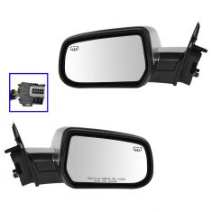 13-14 Chevy Equinox, Terrain (w/Blind Spot Ind) Power, Heated, w/Mem Mirror w/Satin Chrome Cvr PAIR