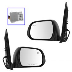 13-14 Toyota Sienna Power, Heated w/Blind Spot Protection & PTM Cap Mirror PAIR
