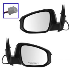 13-14 Toyota Rav4 Power Textured Black Mirror PAIR