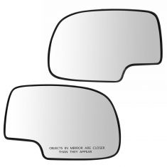 99-07 GM Full Size PU, SUV Mirror Glass (w/4 3/8 Diag) w/Backing Plate PAIR