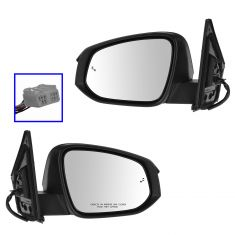 13-14 Toyota Rav4 (w/Blind Spot Protection) Power, Heated, w/Turn Signal w/PTM Cap Mirror PAIR