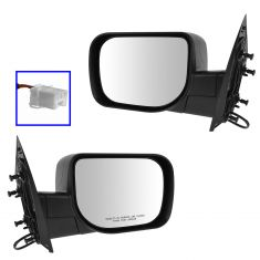 04-14 Nissan Armada; 04-05 Infiniti QX56; 04-09 Titan Power w/Textured Black Cap Mirror PAIR
