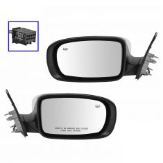 11-14 Chrysler 300 Power Heated Manual Fold Chrome Mirror PAIR
