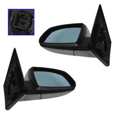 06-09 Kia Rio Power Heated Blue Glass PTM Mirror PAIR