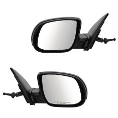 10-11 Hyundai Accent Manual Remote Textured Mirror PAIR