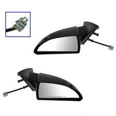 07-13 Chevy Impala Power Heated PTM Textured Base Mirror PAIR