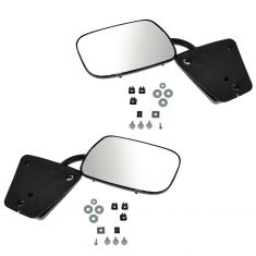 73-91 GM Truck Black Manual Mirror PAIR