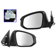 14-15 Toyota Highlander, Highlander Hybrid Power Heated w/Turn Signal PTM Cap Mirror PAIR