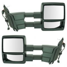 11-15 Exptn, 11-14 Nav Pwr Htd w/Puddle Light Towing Txt Blk Cap Mirror (Upgrade) PAIR (TR)