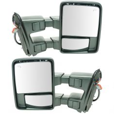 08-15 Ford SD PU Pwr Fold, Pwr Telescope Htd Smoked Turn Sig & Clrnce Lite Textrd Tow Mirror PAIR