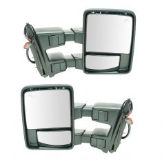 08-15 Ford SD PU Pwr Fold, Pwr Telescope Htd Smoked Turn Sig & Clrnce Lite PTM Tow Mirror PAIR