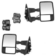 08-15 Ford SD PU Pwr Fold, Pwr Teles, Htd, Mem, Smoked Trn Sig & Clrnce Lite Txtrd Tow Mirror Pair