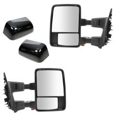 08-15 Ford SD PU Pwr Fold, Pwr Teles, Htd, Mem, Smoked Trn Sig & Clrnce Lite PTM Tow Mirror Pair