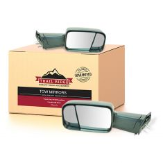 94-01 Dodge Ram 1500; 94-02 2500/3500 Manual 4th Gen Head Text Black Tow Mirror w/Brkt PAIR (TR)