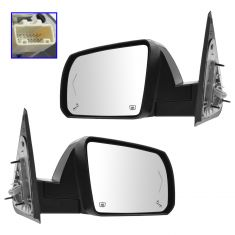 14-15 Toyota Sequoia Pwr Folding Htd w/TS, Puddle, Memory, Blind Spot Mon Mirror w/Chrome Cap PAIR