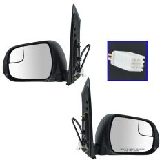 15-16 Toyota Sienna Power, Heated (w/Spotter Glass) Mirror w/PTM Cap Pair