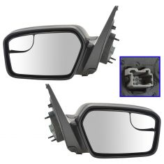 11-12 Ford Fusion, Fusion Hybrid; 11 Mercury Milan Power w/ Textured Cap Mirror PAIR