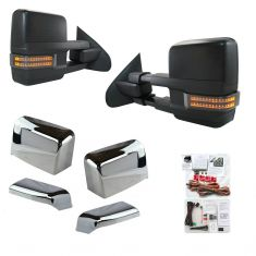 14-16 GM 1500;15-16 2500, 3500 Pwr Fld, Smk LED TS, Mrk, Crgo Sptlg, w/RH OAT Chrome Tow Mirror PAIR