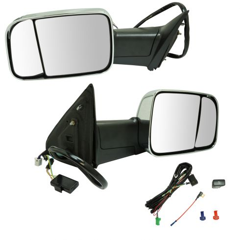 2013 16 Ram 2500 Tow Mirrors Adds Power Fold Power Heat