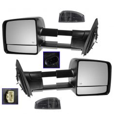 07-16 Toyota Tundra Mirror Towing Power Heated w/Amber & Smoke Signal PAIR