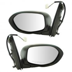 14-16 Honda Odyssey Mirror Power Black Texture Pair