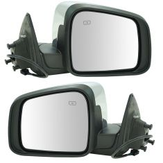 11-16 Dodge Durango Power, Heated w/Chrome Cap Mirror Pair
