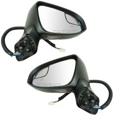14-16 Toyota Venza Power Folding, Power, Heated w/Memory, Turn Signal, Puddle Light PTM Mirror Pair