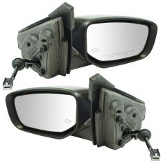 15-16 Dodge Dart Power, Heated w/Turn Signal & Puddle Light w/PTM Cap Mirror Pair