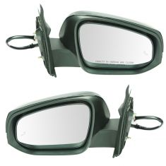 16-17 Toyota Tacoma Power, Heated (w/Blind Spot Detection & Hsg Mtd Turn Signal) PTM Cap Mirror Pair