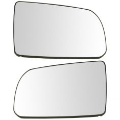 07-17 Toyota Tundra; 08-17 Sequoia (w/OE Mirror) Unheated Mirror Glass w/Backing Pair