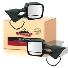 04-15 Nissan Titan Power, Heated, Chrome & PTM Covers, (w/Mtg Brackets) Towing Mirror PAIR (TR)