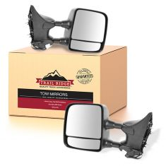 04-15 Nissan Titan SE/Pro-4X Power, Heated, (w/Mtg Brackets) Textured Towing Mirror PAIR (TR)
