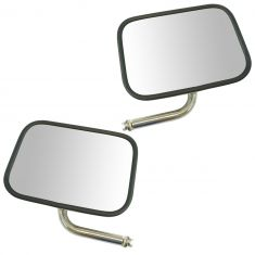 92-04 Ford E150, E250, E350, E450 Manual, Stainless, Non Swing Lock, Mirror Head w/J Arm LH RH Pair