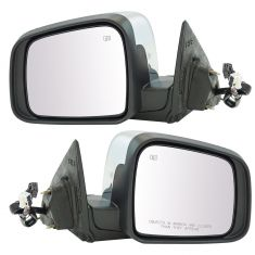 11-17 Dodge Durango Power, Heated, Memory (w/Housing Mounted LED Turn Signal) Chrome Cap Mirror PAIR
