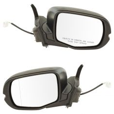 2016 Honda Pilot (w/Expanded View (Aspehical Glass)) Power w/Txt Black Cap Mirror PAIR