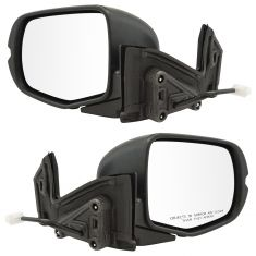 16-17 Honda Pilot; 17-18 Ridgeline Power w/Textured Black Cap Mirror PAIR