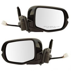 16-17 Honda Pilot Power, Heated, w/Memory & Turn Signal w/Gloss Black Body & PTM Cap Mirror PAIR