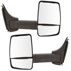 03-17 Chevy Express, GMC Savana Cut-Away Van Single Arm, Dual Glass Txt Blk Manual Tow Mirror PAIR