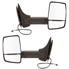 03-17 Express, Savana Cut-Away Van Dual Heated Glass, Text Black Power Tow Mirror PAIR