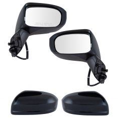 14 Honda Civic Power Textured Black Mirror PAIR