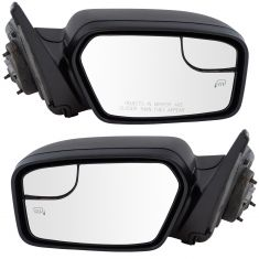 11-12 Ford Fusion Power Heated w/Spotter Glass Textured Black Mirror PAIR